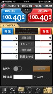 ドル円 ロット 10000通貨